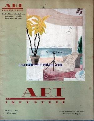 ART ET INDUSTRIE [No 3] du 01/03/1930