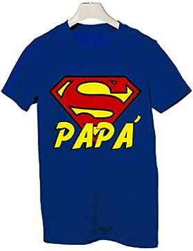 Tshirt super papà - festa del papà - happy father's day - Tutte le taglie by tshirteria