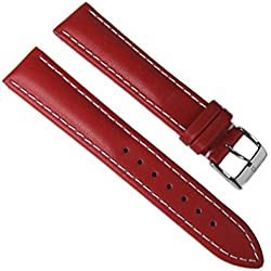 Minott Replacement Band Watch Band Leather bovine-Rustica red 18mm
