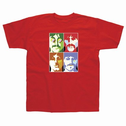 Preisvergleich Produktbild Spike Herren T-Shirt The Beatles Sea of Science, rot, Gr. S