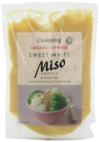 Clearspring Organic Sweet White Miso Pouch 250g (Case of 6)
