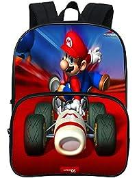 HOOMOLO Unisex Niños Super Mario Impresión 3d Mochilas Cute de Dibujos Animados School Bag School Rucksack