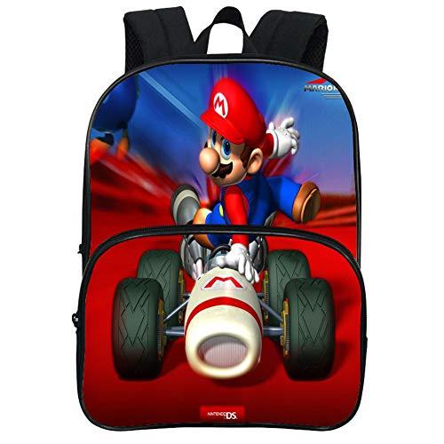 HOOMOLO Unisex Niños Super Mario Impresión 3d Mochilas Cute de Dibujos Animados School Bag School Rucksack School Rucksack