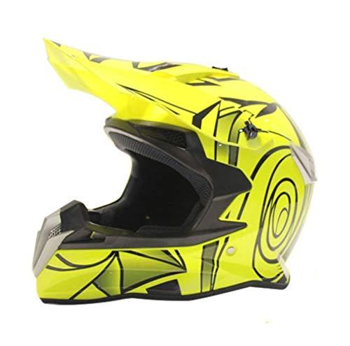 SSYWX Motocross Helm, Full-Cover Four Seasons Downhill Pedal Motorradhelm Für Männer Und Frauen, DOT-Zertifizierung, M-XL (54-60) (yellow,M)