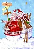 Christmas Garden Flag Snow Couple