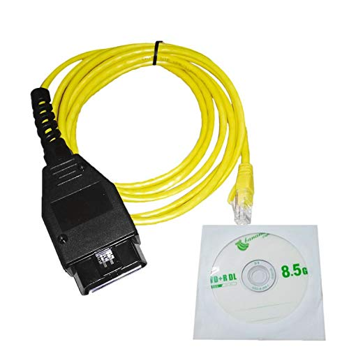 CremeBruluee Ethernet OBD Cã¢Ble d'interface E-SYS ICOM Codage F-série pour BMW ENET 2M Voiture