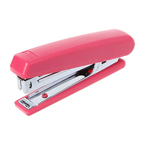 XTYaa Tragbares Heftgerät aus Metall, mit Nr. 10 Heftklammern für Schreibtisch, Schule, Büro rot