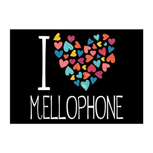 Idakoos I love Mellophone colorful hearts - Instrumente - Aufkleber Packung x4
