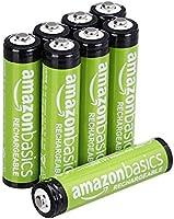 AmazonBasics AAA vooraf opgeladen oplaadbare batterijen 800 mAh / minimum: 750 mAh [pak van 8 stuks] - de buitenkant van...