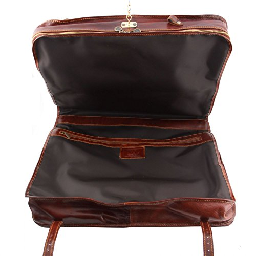 Tuscany Leather - Tahiti - Porta trajes en piel Marrón oscuro - TL3030/5