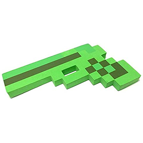 8 Bit Pixelated Green Foam Gun Toy