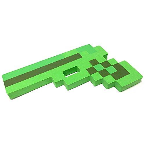 8 Bit Pixelated Green Foam Gun Toy 10