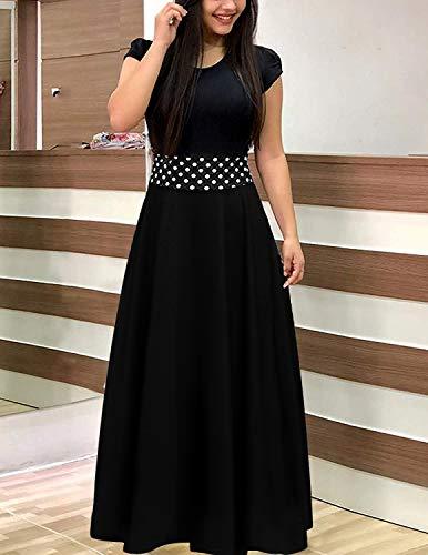 online store fe569 d1b2e UUAISSO Donna Vestiti Eleganti Lunghi Floreale Casuale Abito ...
