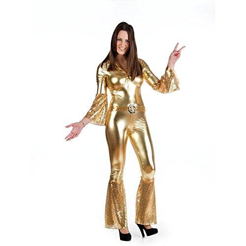Goldene Disco-Diva-Kostüm für Damen