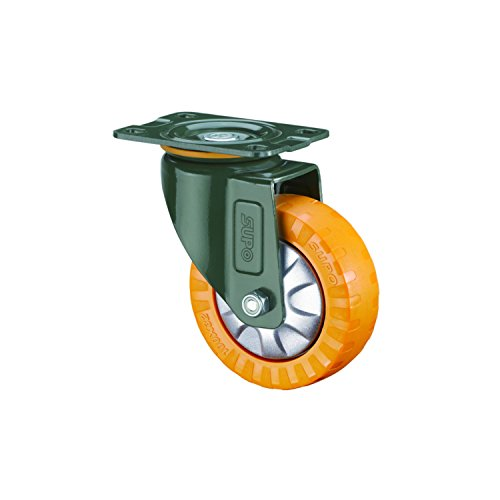 SUPO 40mm Polyurethane with Single Ball Bearing Medium Duty Swivel Plate Caster Wheel  available at amazon for Rs.155