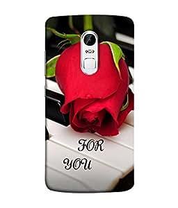 PrintVisa Designer Back Case Cover for Lenovo Vibe X3 (Bud Season Valentine Romance Romantic Beauty Picture Illustration Piano)