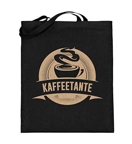 Kaffeetante - für Kaffee Fans - Jutebeutel (mit langen Henkeln)
