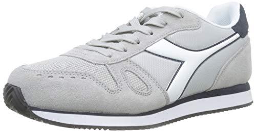Diadora Simple Run, Sneaker Uomo, (Grigio Pulviscolo/Blu Profondo C7656)), 39 EU
