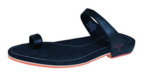 Puma Neveah Damen Leder Sandalen / Flip Flops-Black-36