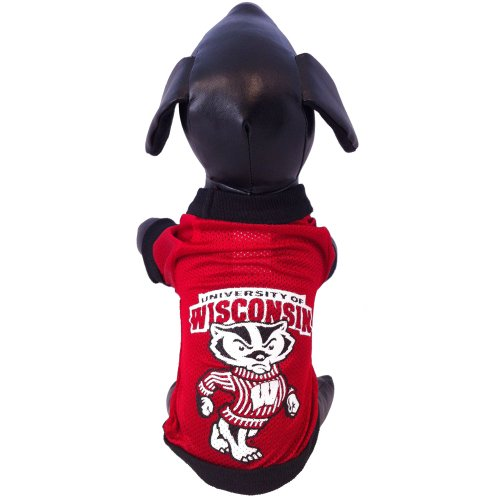 All Star Dogs NCAA Wisconsin Badgers Collegiate Athletic Mesh Hund Jersey, unisex, Wisconsin Badgers (Lb 60 Hunde)