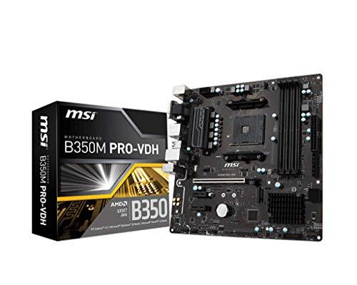 MSI B350M PRO-VDH, Sockel AM4, DDR4, HDMI,DVI,D-Sub 1x M.2 & 6x USB 3.1 Gen1 MATX Mainboard