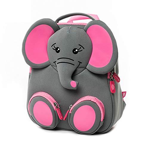 ZMH 3D Feliz Elefante Modelo Escuela Grande Impermeable zoológico Animales diseño Mochila Infantil Moda Anti perdido Regalo para 3 4 5 años niño pequeño niños pequeños