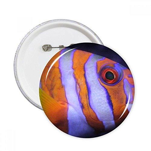 DIYthinker Meeresorganismus tropische Fische Tier Runde Stifte Abzeichen-Knopf Kleidung Dekoration 5pcs Geschenk Mehrfarbig M -