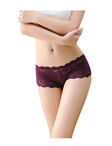 Letuwj Damen Unterwäsche Spitze Lace Ultradünner Slip Unterhose Mini Tangas Schlüpfer Lila