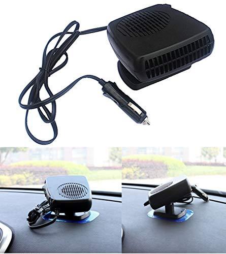 Jannyshop Portable Voiture en C/éramique Radiateur Ventilateur De Refroidissement 12V 24V 150-300w Auto Rapide Defrosts De Chauffage d/égivreur Pare-Brise d/égivreur de Chauffage de v/éhicule Brancher