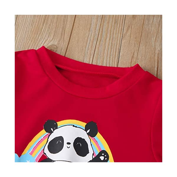 Tefamore Sudadera Niño Conjuntos Chicos y Chicas Conjuntos Chándales y Pantalones Deporte Casual Impresión de Streetwear… 3