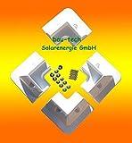 Solarmodul Halterung 4 x Eckprofil Wohnmobil Camping Solarhalterung weiß von bau-tech Solarenergie GmbH
