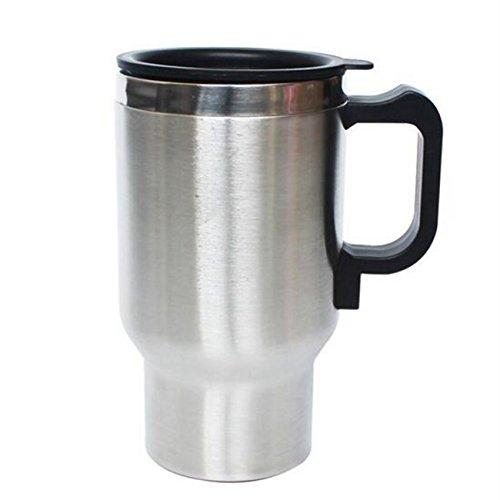 Refrigerador de la taza del coche eléctrico auto/Calentador de la taza de calefacción eléctrica Ventilador de la taza del coche de acero inoxidable CALEFACCIÓN taza de té del café Milk-12V 450 ml