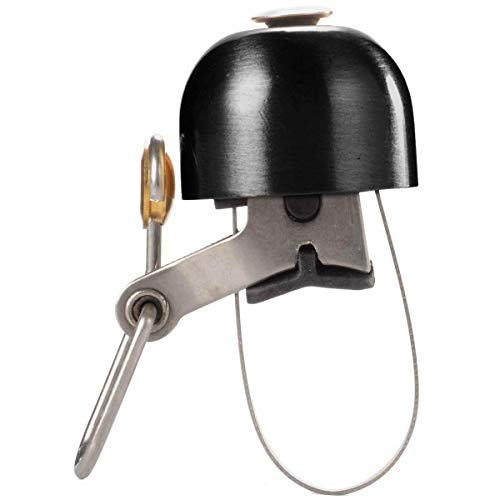 RockBros - Timbre de bicicleta, timbre de mano para el manillar, clásico, retro, vintage, bocina retro, Negro , 2,2x2,8 cm