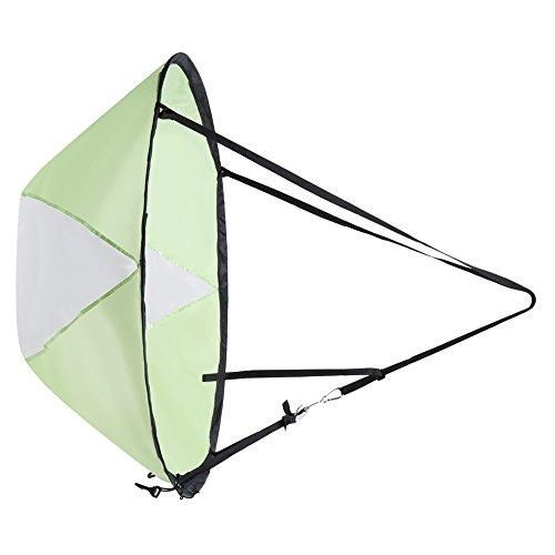 ieenay Vela para Kayak Kayak Wind Sail Paddle Vela Plegable de 42 inch con Ventana Transparente y Bolsa de Almacenamiento Accesorios de Canoa Kayak Compacto y portátil, Verde