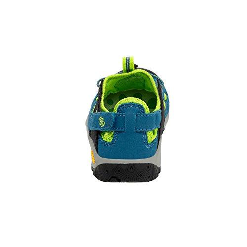 Brütting Sandale petrol/neongrün