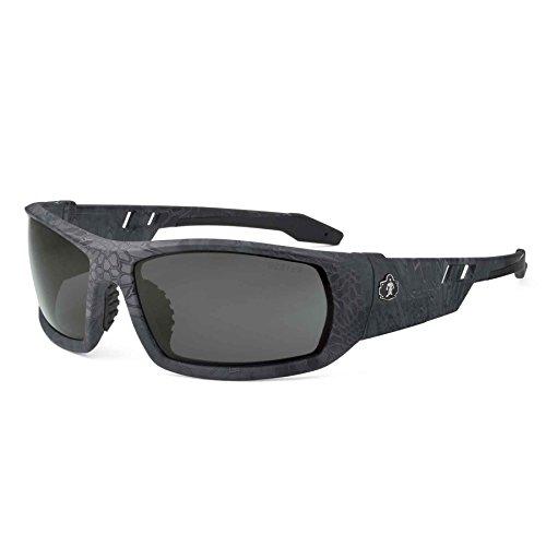 Ergodyne Skullerz Odin Anti-Fog Safety Sunglasses - Kryptek Typhon Frame, Smoke Lens