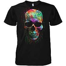 88f207b11ddf0 Chameleon Clothing Geek Colour Skull 702214 T-Shirt