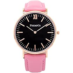 Prempco - Nobel - Ladies Watch - Rose Gold - Quick Interchangeable Watch Wrist Band in Pink