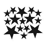Koperras Stickers Muraux De Combinaison CréAtive éToiles Chambre Autocollants éCologiques Amovibles Bricolage, Carrelage Autocollants Affiche De DéCoration (Trois Tailles, 5Cm, 4Cm, 2.5Cm)