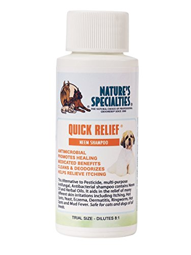 Nature's Specialties Quick Relief Neem Shampoo for Pets, Trial Size by Nature's Specialties Mfg