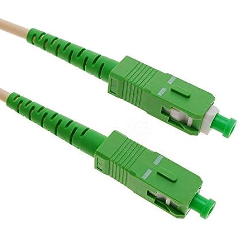 Cablematic - Cable de fibra óptica SC/APC a SC/APC monomodo simplex G657A2 9/125 de 3 m