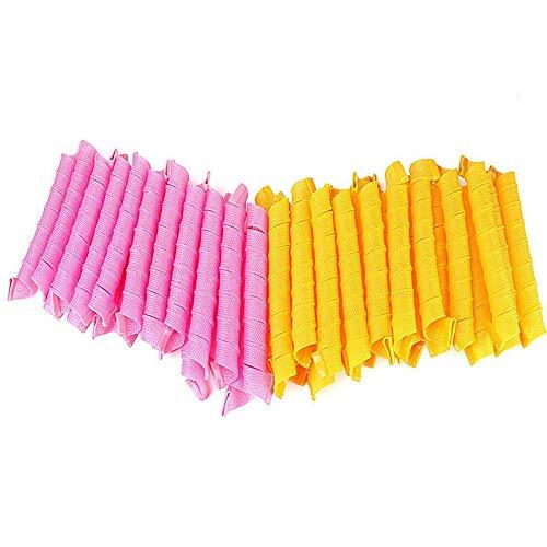 Red April 40 Pcs Pink Magic Lockenwickler, Variety Magic Hair manuelle Lockenwickler, Magic Hair Roll und Lockenwickler Rollen für Frauen Mädchen Haar Abschnitt Styling. -