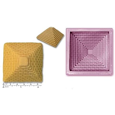 Pirámide de Egipto/caucho de silicón molde jabón para repostería