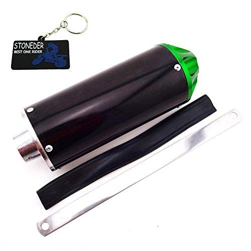 stoneder Aluminium grün 28mm Auspuff Schalldämpfer für 50cc 90cc 110cc 125cc CRF50XR50KLX110SSR Thumpstar Chinesische Pit Dirt Bike Motorrad