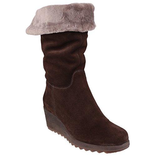 The Flexx Pick A Fur - Bottes en cuir - Femme Gris foncé