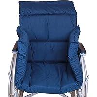Rollstuhl Polster Winter T-Förmiges Kissen Für 45Cm Standard-Rollstühle Komfortabel Weich Und Warm,Blue,105Cmx45cmx6cm