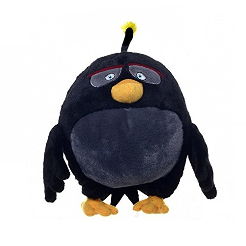 "Angry Birds - Bomb Black Bird Plush - Movie - 16cm 7"""
