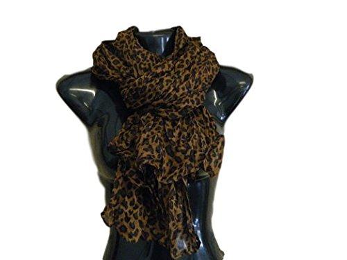 Tuch Leopard (Smallwise Handel Heiße Mode Promi Damen Tiermuster Leopard Aufdruck Weich Lang Schal Halstuch Gewickelt - 0, Oversea Dispatch)
