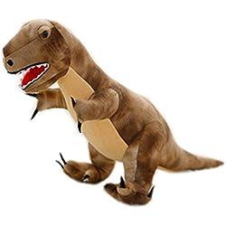 Simulación Animales de peluche dinosaurios y juguetes de peluche para niños (T-Rex Marrón 70cm)
