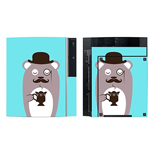 'Disagu SF de SDI de 3372_ 1135Diseño Protector de pantalla para Sony PS3de pie con controlador–Diseño café oso marrón transparente
